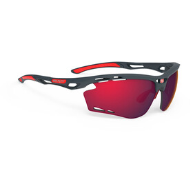 Rudy Project Propulse Lunettes, charcoal matte/multilaser red